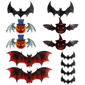 Scary-Halloween-Props-Decor-Stickers-fete-lanterne-mur-fenetre-chauves-souris-G