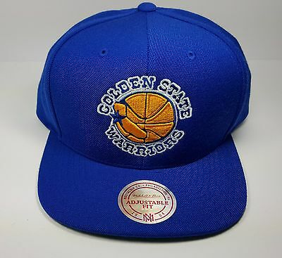 Golden State Warriors Mitchell & Ness Vintage Solid Wool Snapback Hat Cap NBA