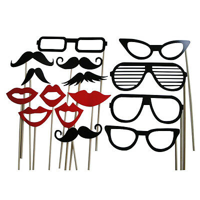 Funny Photo Booth Props Lips Sticker Mustache For Wedding Birthday X'ams Party