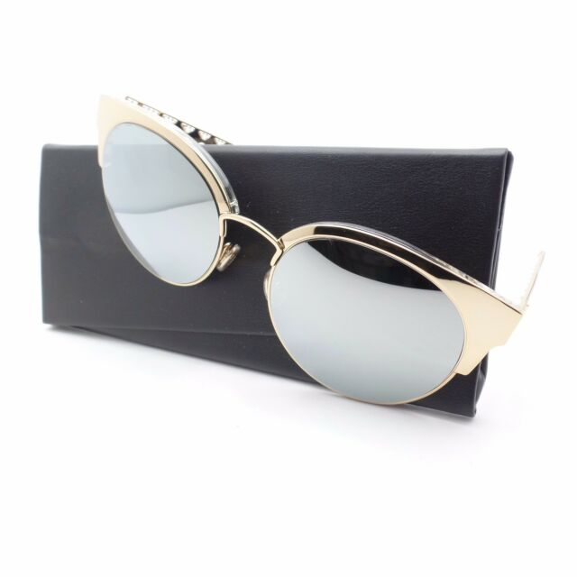 f0816abc686 Christian Dior Dioramamini J5GDC 54 Gold Silver Mirror J5G Sunglasses  Authentic