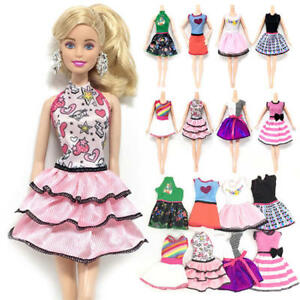Lovely Handmade Fashion Clothes Dress For Barbie Doll Cute Party Costume Best DD
