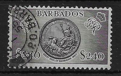 Barbados Sg282 1950 $2.40 Black Used Strong Resistance To Heat And Hard Wearing Stamps