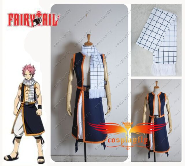 Free Shipping Fairy Tail Natsu Dragneel Cosplay Costume Custom Made Any Size