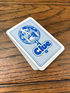 Clue-1986-Waddington-Games-Cards-Set-Board-Game-Part-Replacement-2