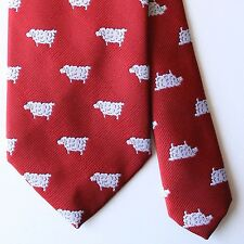 VINTAGE CHIPP Red Black Sheep Tie Made in USA