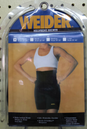 """Weider Neoprene Shorts XS Waists 20/"""" 25/"""" Compression  Reduce Weight NSBXSY 608"""