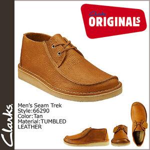 Clarks-Originals-X-costura-Trek-Cuero-Marron-UK-6-5-7-8-9-11-F