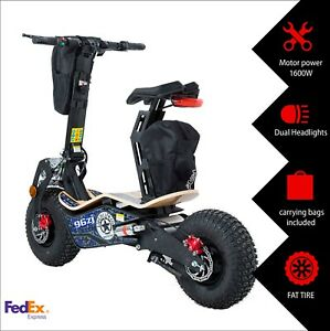 Details About Mototec Fat Tire Electric Scooter 1600w Motor 48v Adult With Seat Usa Shipping