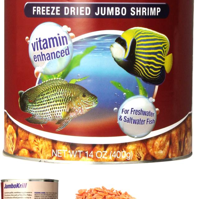 Tetra JumboKrill Freeze-Dried Jumbo Shrimp 14 Ounces, Natural Shrimp Treat Fo...