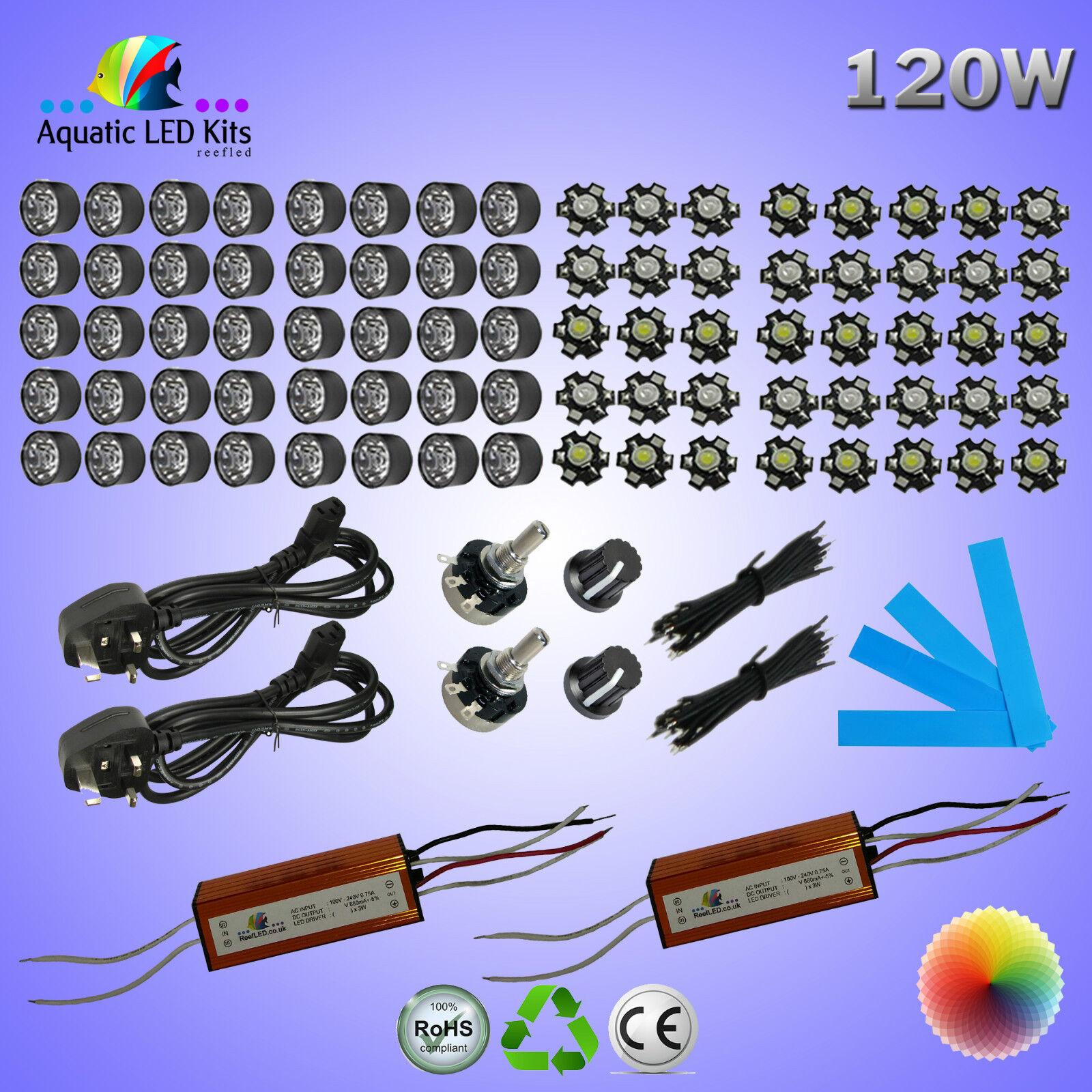 Fai-da-te Dimming Bridgelux ACQUARIO LUCE LED KIT 36W, 60W, 72W, 90W, 120W,
