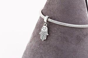 Hamsa-Hand-Charm-Religious-SILVER-Jewellery-Pendant-Charm-for-Bracelet