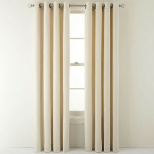 Richloom Shale Grommet Top Curtain 1 Panel 50x84in Ivory