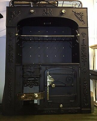 Bracing Up The Whole System And Strengthening It Restored Antique Cornish Cast Iron Kitchen Cooking Range Fireplace Hob ta269