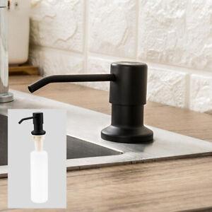 Black-For-Kitchen-Sink-Soap-Dispenser-Bathroom-Manually-Press-Soap-DispenserTECR