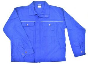 Swedish-Style-Vintage-Work-Wear-Jacket-Shirt-Heavy-Cotton-Chore-Army-Jacket-Blue