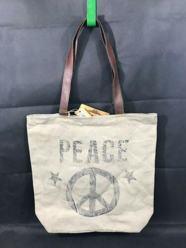 Mona B Peace Tote Large Market Purse NWT