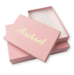 Details About Personalised Pink Jewellery Gift Boxes Silver Gold Foil Necklace Bracelet Ring