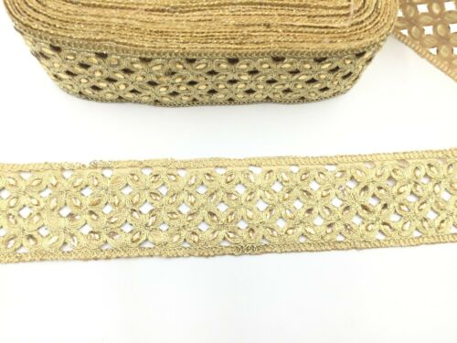 Sewing Silver/&Gold Diamante Tear Drop Stone Edging Lace Ribbon Border Trim 1Yard