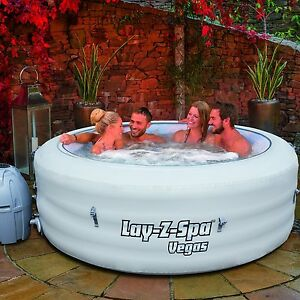 Bestway Lay Z Spa 2016 Vegas Inflatable Portable Hot Tub Jacuzzi 4 6