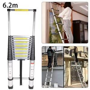 6.2M Portable Heavy Duty  Aluminium Telescopic Ladder Extendable 20.3ft