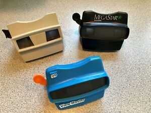 Viewmaster Lot Of 3 3D Fisher Price Vintage Sawyers Mega Star Systems