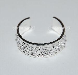 Toe-Ring-or-Finger-Ring-925-Sterling-Silver-Celtic-Maltese-Cross-Design-New