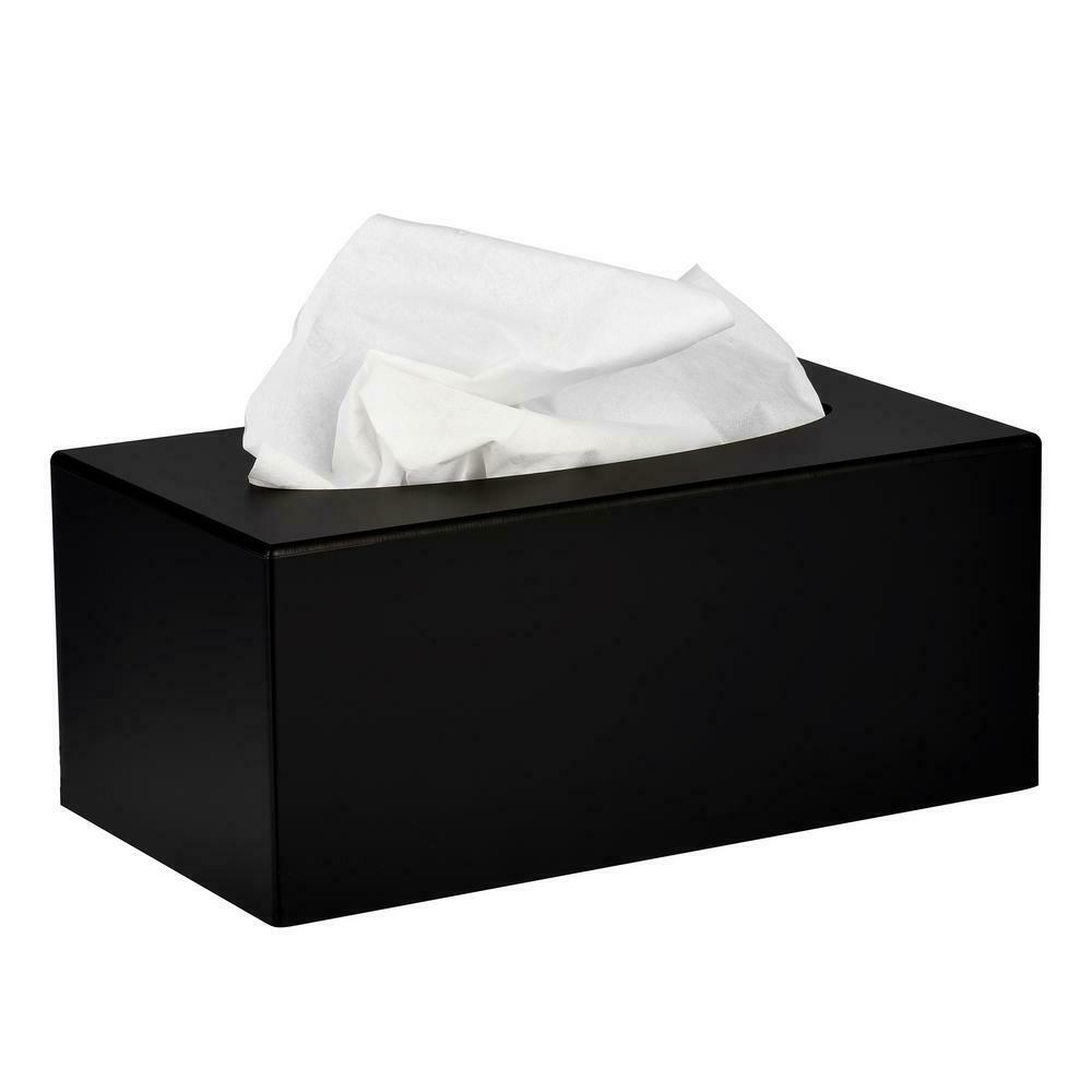Alpine Industries Black Acrylic Tissue Box Containers (2 pack)