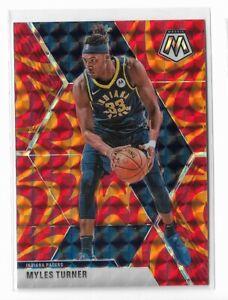 2019-20 Panini Mosaic basketball Orange Reactive prizm Myles Turner #195