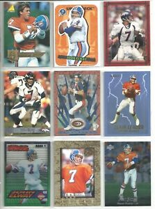 Details About John Elway 18 Card Denver Broncos Football Lot Assorted Years