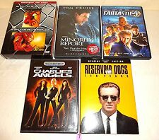 #7 Lot 6 DVD movies-Charlie's Angels-Reservoir Dogs-Spider-man 1&2-Fantastic 4 +