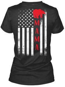 Mama-Bear-Flag-Gildan-Women-039-s-Tee-T-Shirt
