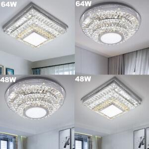 Details zu Luxus LED Kristall Deckenleuchte Wohnzimmer Deckenlampe Dimmbar  Flurry Lampe A9