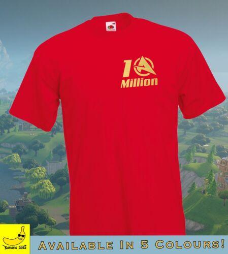Ali-A 10 MILLION T-shirt Ali A COD Call of Duty Fortnight Gold Youtube Youtuber