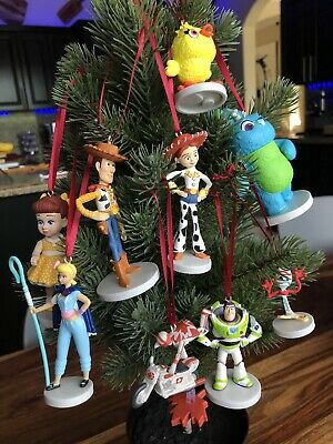 Toy Story Christmas Ornaments.Deluxe Disney Toy Story 4 Christmas Ornament Set 9pc Pvc Ebay