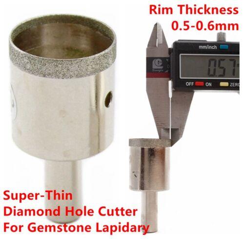 16-38 mm Diamond Gemstone Drill Bits for Jewelry Super-Thin Rim Pack of 2Pcs