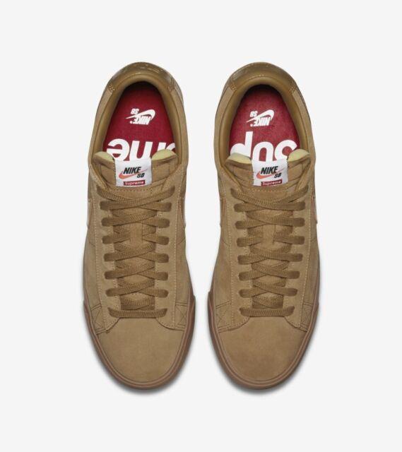 buy popular 76969 b225d Nike X Supreme Blazer Low GT QS Golden Beige Men's Sz 10 FW16 - 100%  AUTHENTIC