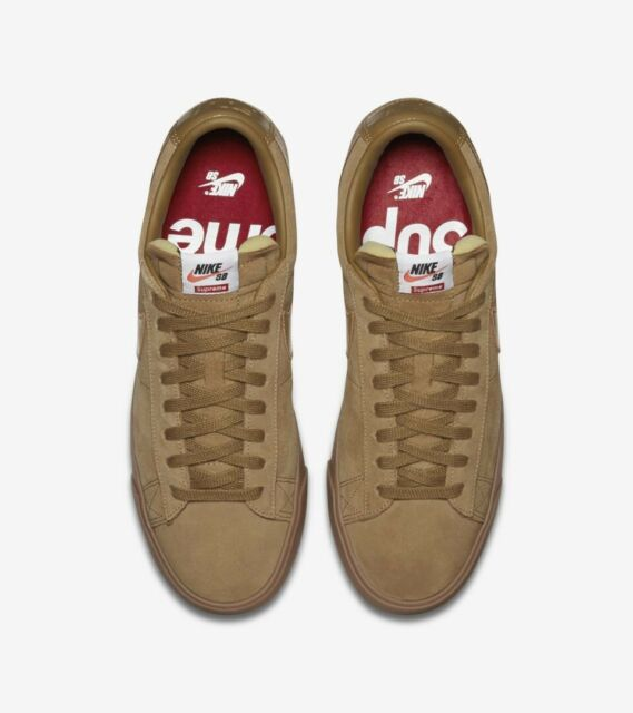 buy popular 70b93 84e1d Nike X Supreme Blazer Low GT QS Golden Beige Men's Sz 10 FW16 - 100%  AUTHENTIC