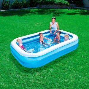 Bestway Rectangular Family Swimming Paddling Pool Outside