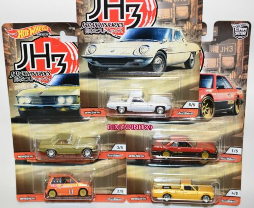 HOT WHEELS 2020 CAR CULTURE JAPAN HISTORICS 3 CASE P SET OF 5 NISSAN DATSUN