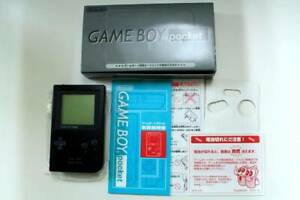 Nintendo-Game-Boy-Pocket-Black-BOX-MGB-001-Game-Console-System-from-JP-Free-Ship