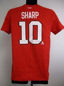 the best attitude 356c4 4d43b Details about New Minor Flaw Blackhawks #10 Patrick Sharp Youth Size L  Large (14/16) Red Shirt