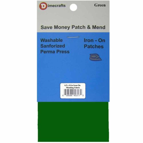 Iron-On Mending Fabric Repair Patch 6.5 x 14 Inch Compare to Bondex Dark Green