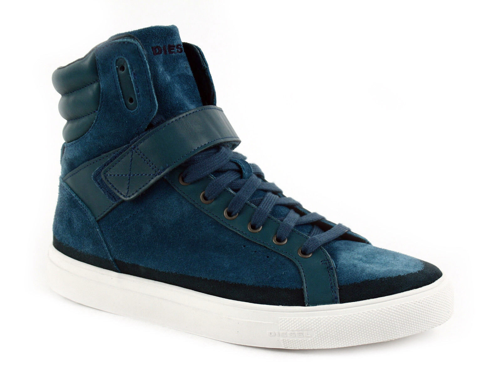 Diesel ECLIPSE High Top Mens Casual Fashion bluee Leather Suede shoes Sneaker