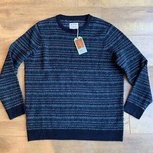 Fat Face Fair Isle Rundhalsausschnitt Pullover Größe XL Alpaka Mischung Neu Rrp £ 49.50