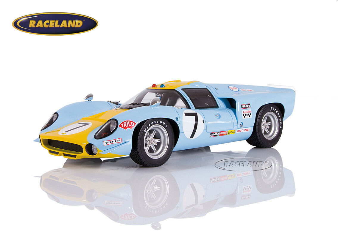 Lola t70 mk3 Sports Car Unlimited Le Mans 1968 Axelsson Norinder Tecnomodel 1 18