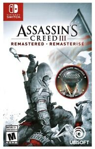 ASSASSIN-039-S-CREED-3-REMASTERED-Nintendo-Switch-BRAND-NEW-FACTORY-SEALED