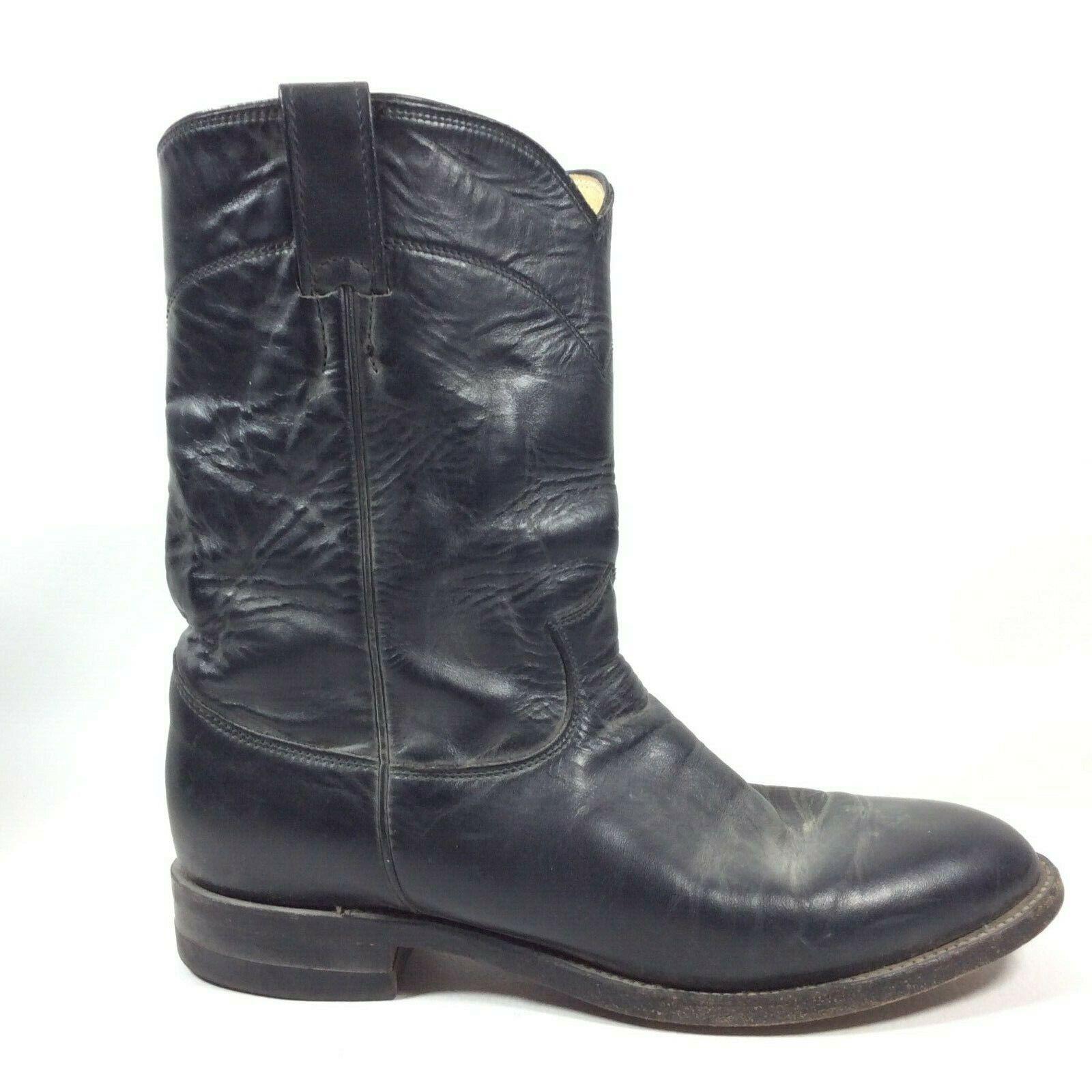 JUSTIN Mens Western Roper Cowboy stivali nero Kippen  Leather Dimensione 9 D 3133  migliore marca