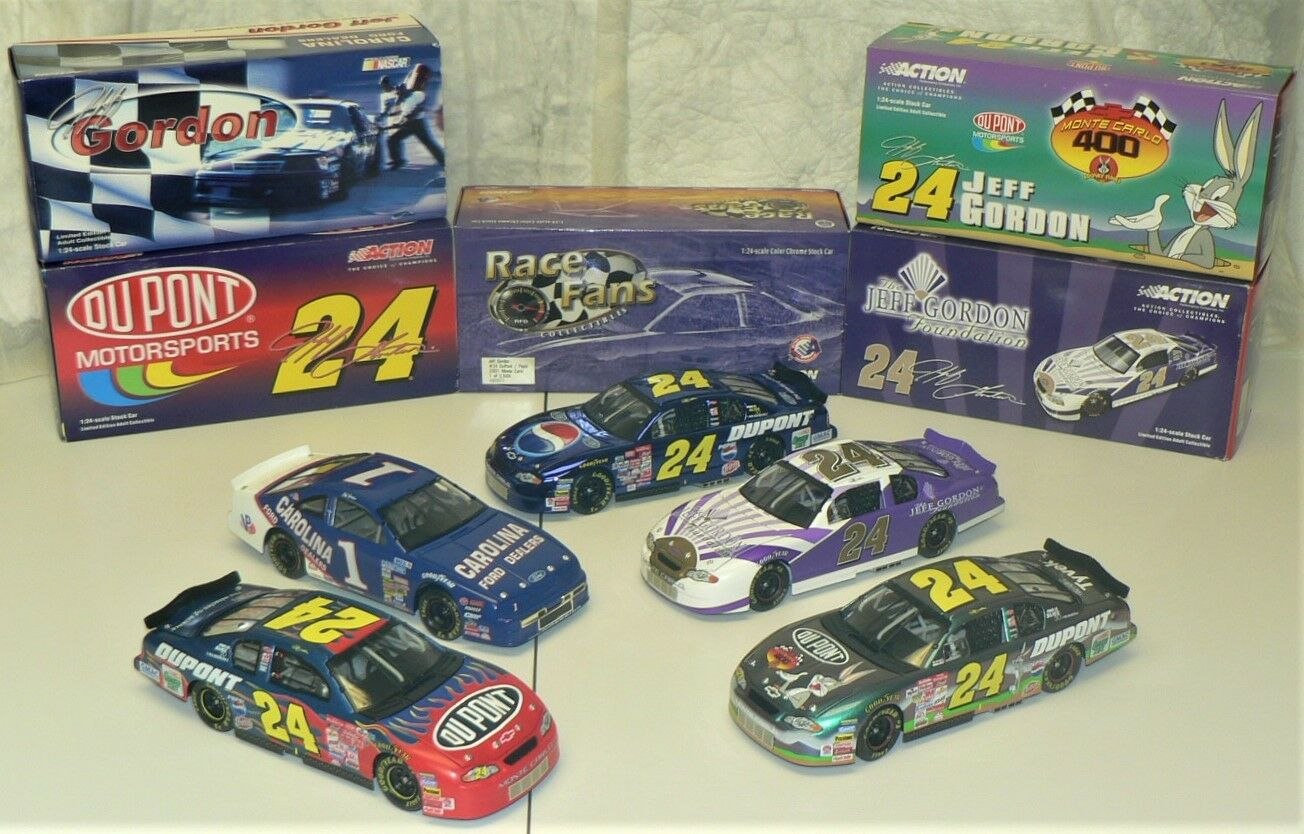 NASCAR - JEFF GORDON - Lot of 5  1999/2001  Collectable Cars by ACTION Racing