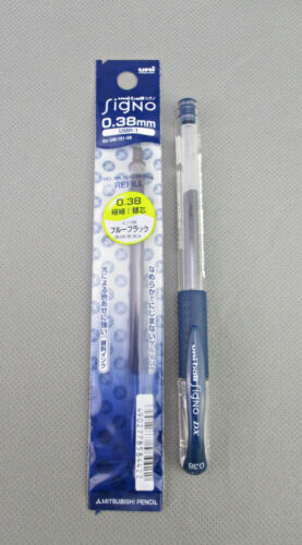 0.38mm rollerball pen MITSUBISHI UNI-BALL SIGNO DX refill BLUE BLACK