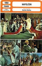 CARTE FICHE CINEMA 1954 NAPOLEON Aumont Boitel Brasseur Guitry